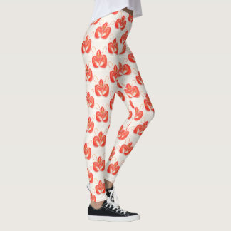 Leggings Motif rouge de homard