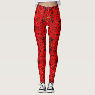 Leggings Motif rouge de kaléidoscope