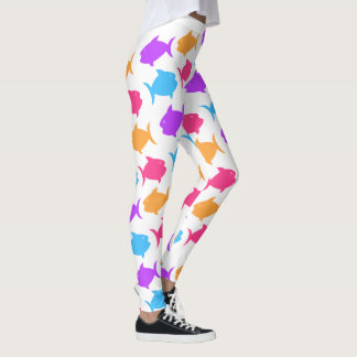 Leggings Motif tropical de poissons colorés