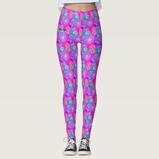 Leggings neonpinkflowerpower