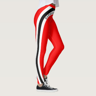 Leggings Noir blanc rouge - intoxiqué de forme physique !