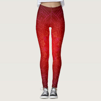 Leggings Nuances des guêtres rouges d'impression de