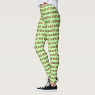 Leggings Oeufs peints par vert heureux de chasse à oeuf de
