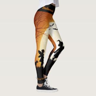 Leggings Pantalon de citrouille de guêtres de Halloween de