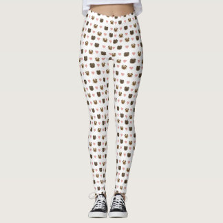 Leggings pantalon de coeur de carlin !