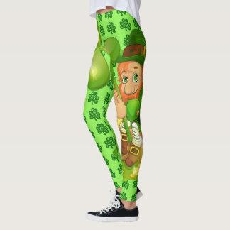 Leggings Pantalon de Patrick de saint de guêtres du jour de