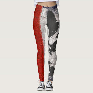 Leggings Pantalon des guêtres des femmes de bouledogue