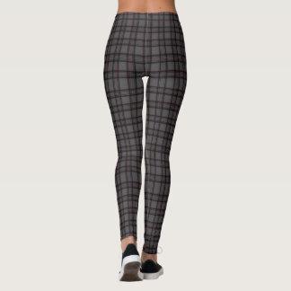 Leggings Pantalon gris classique de guêtres du plaid des