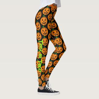 Leggings Pantalon heureux de yoga de guêtres de citrouille