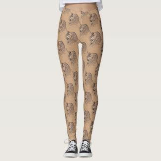 Leggings Pantalon indigène de Tan de licorne