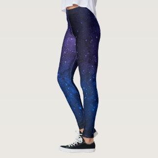 Leggings Pantalon ombragé par bleu cosmique de connexion
