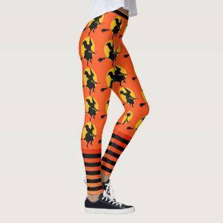 Leggings Pantalon orange du yoga des femmes de guêtres de