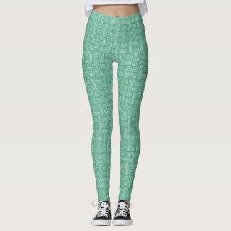 Leggings Pantalon vert blanc de l'animal Pattern#54e