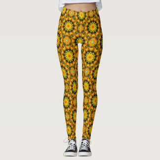 Leggings Pavots californiens, mandala 001 01,1 de nature