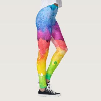 Leggings Peinture abstraite de couleurs d'eau
