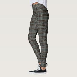 Leggings (plaid gris et brun chaud)