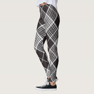 Leggings Plaid noir