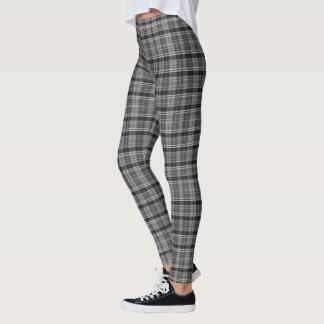 Leggings (plaid noir et gris)