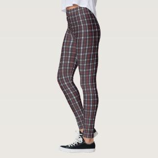 Leggings (plaid rouge, gris et noir chaud)