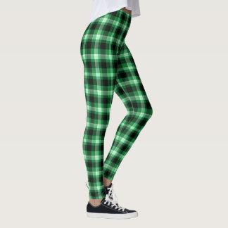 Leggings Plaid vert