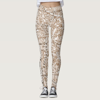 Leggings Plan de ville antique de Paris