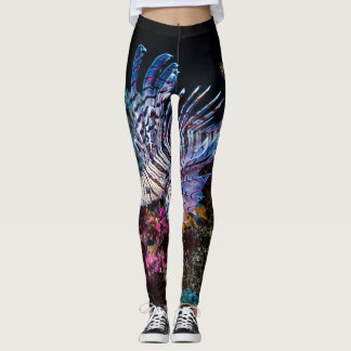 Leggings Poissons de lion de Luna, lunulata de Pterois,