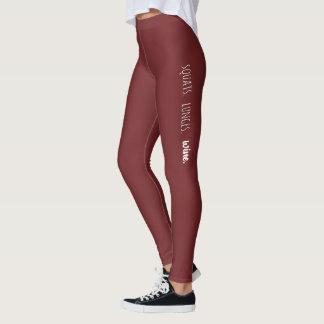 Leggings Postures accroupies, mouvements brusques, vin -