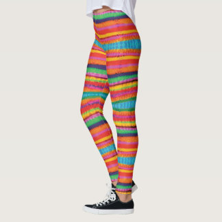 Leggings Rayures de colorant de cravate