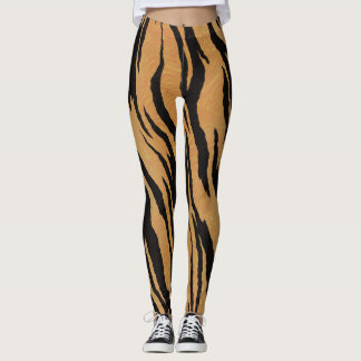 Leggings Rayures de tigre d'amusement