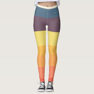 Leggings Rétros guêtres de gamme de couleur
