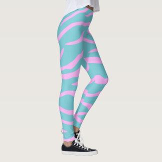 Leggings Rose et votre motif de rayure de tigre de couleur
