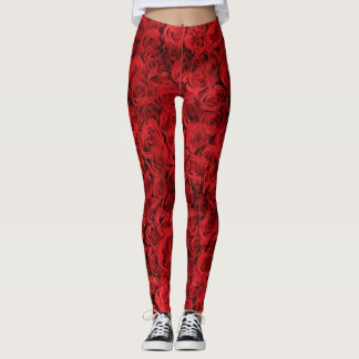 Leggings Roses rouges