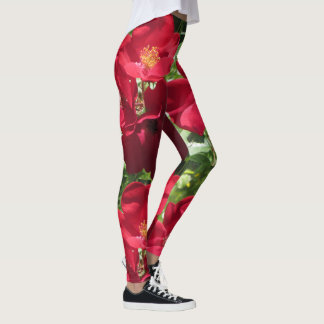 Leggings Roses rouges simples