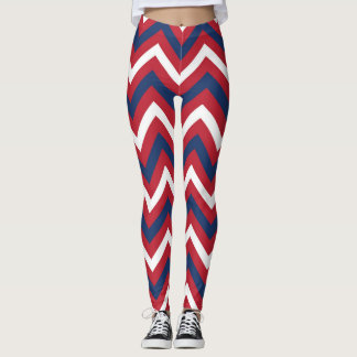Leggings Rouge, Chevron bleu blanc