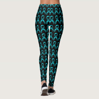 Leggings Ruban turquoise ovarien du cancer du col de