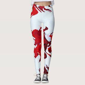 Leggings Rubans rouges
