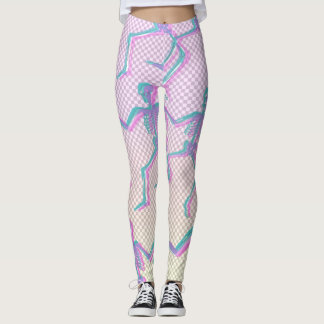 LEGGINGS SQUELETTES TRANSPARENTS DE GRILLE