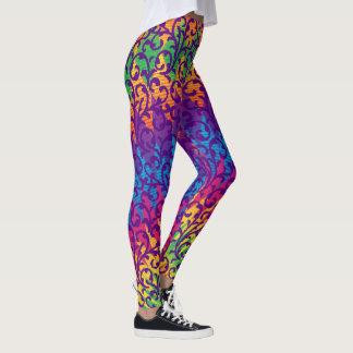 Leggings Style de mardi gras coloré