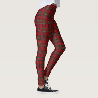 Leggings Tartan écossais de rouge de Stewart de clan