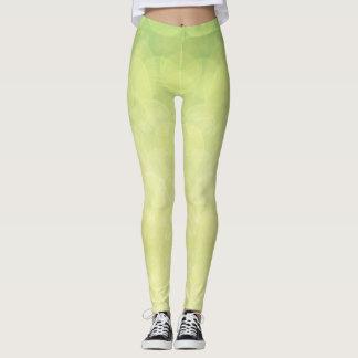 Leggings Texture abstraite de chaux de vert de bokeh