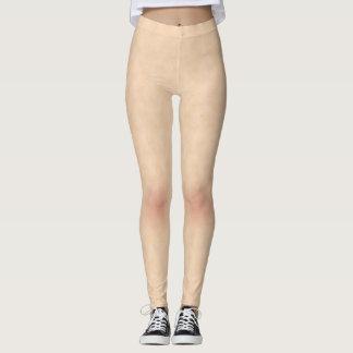 Leggings Texture de style de peau avec des guêtres de