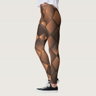 Leggings Texture géométrique abstraite de chocolat