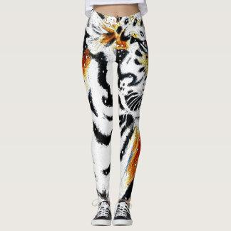 Leggings Tigre dans la neige noir