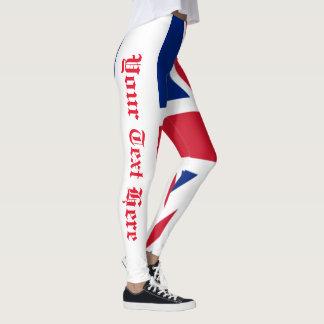 Leggings Union Jack Grande-Bretagne votre texte