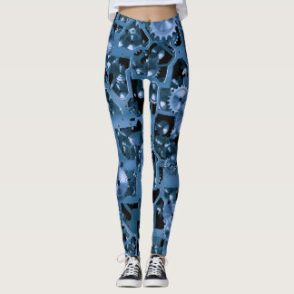 Leggings Vitesses de bleu d'amusement !