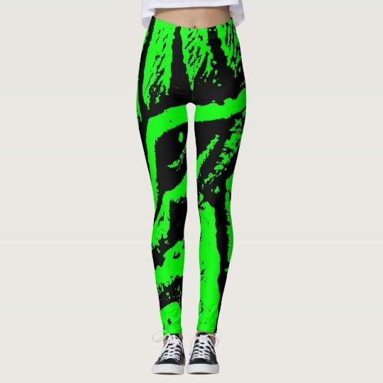 leggings  zébré vert