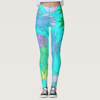Leggins floraux de motif leggings