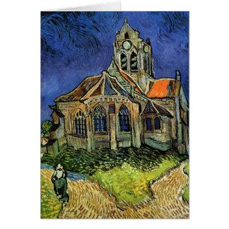 L'église chez Auvers par Vincent van Gogh Carte De Vœux