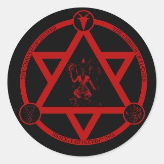 L'église de Lucifer - autocollant officiel de logo