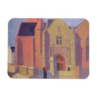 L'église de Notre-Dame de la Clarte Magnet Rectangulaire Avec Photo